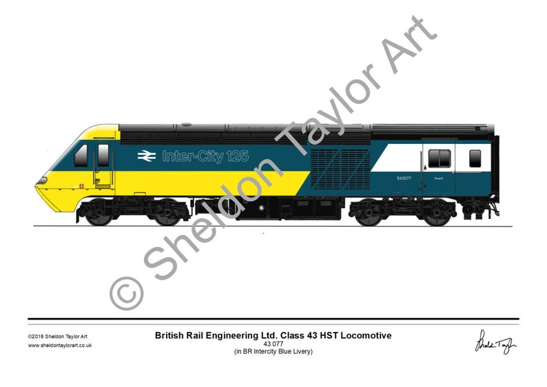 bc084f4ae669 Class 43 077 hst Locomotive in BR Intercity Blue Livery