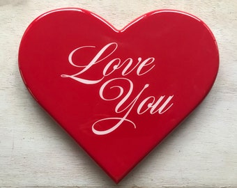 Love You Heart - Mothers Day, Fathers Day, Birthdays, Special Occasions