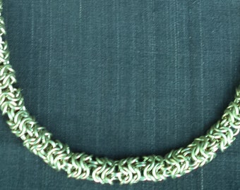 Skipped Round Maille Necklace