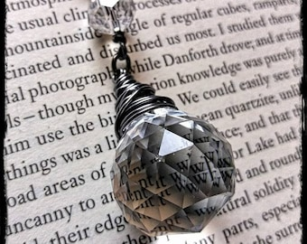 Double crystal drop pendant