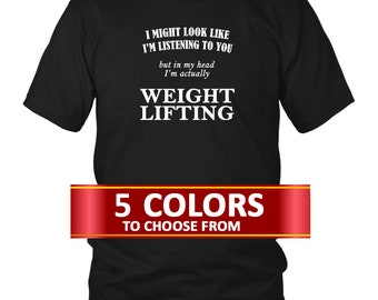 f78a0628 Weight Lifting T-Shirt, Weight Lifting Gift Idea, Gift for Weight Lifter, Weight  Lifter, Gift idea for Weight Lifter, Weight Lifter,
