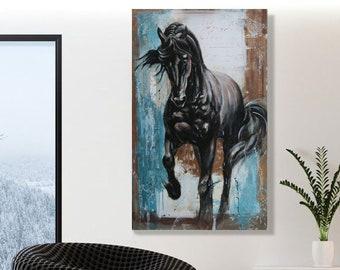 "Modern acrylic painting ""Vranac"",made in 2017, 100cmx60cm"