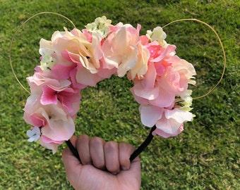 floral minnie ears