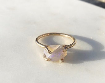 Raw Lightning Opal Ring