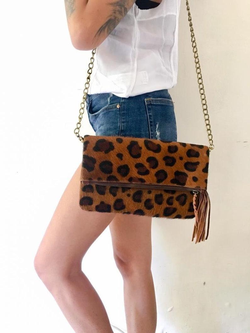 bdb5f0e283a3 Loka Leopard Cowhide Crossbody Bag Cowhide Crossbody Leopard | Etsy