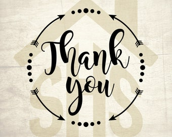 Thank you SVG, Thank you vector, Thank you digital clipart Svg, png, dxf files instant download for User, Design, Printing or more