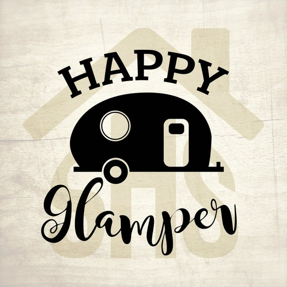 Glamper SVG Happy Svg Digital Clipart