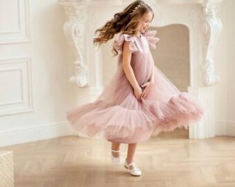 6e8f763c7e Blush flower girl dress