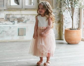 469a517c043 Blush flower girl dress
