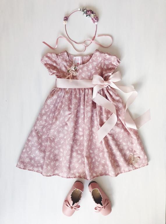 Flower girl dress dusty pink flower girl dress pink child etsy image 0 mightylinksfo