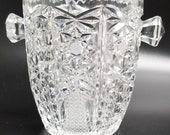 Sale 15 -20 Off Entire Order Vintage American Brilliant Period-APB-Cut Crystal Ice Bucket Dish Vase BEAUTIFUL