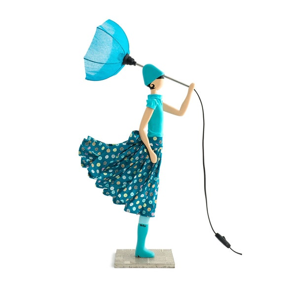 Little girl lamp - Anafi, Table lamp, bedroom lamp, modern floor lamps,  birthday present, gifts for wife, gifts for her