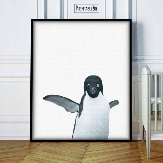 Baby Penguin Decor Penguin Nursery Art Penguin Wall Art | Etsy