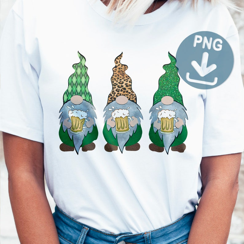 Download Gnomes png St Patricks Day Sublimation Designs Download | Etsy