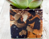 Personalized Gift Pot with Succulent, Gift for her, Gift for him, Office gift, office decor, succulent gift