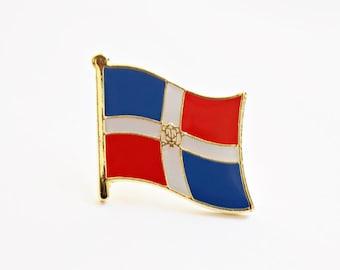Dominican Republic Republica Dominicana Flag Epoxy Enamel Pin