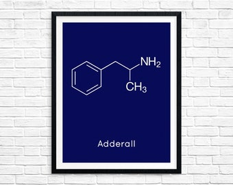 Instant Download Adderall Molecule Ritalin Chemistry Print Science Gift Digital Download Chemistry Art Pharmacy Downloadable Prints 7