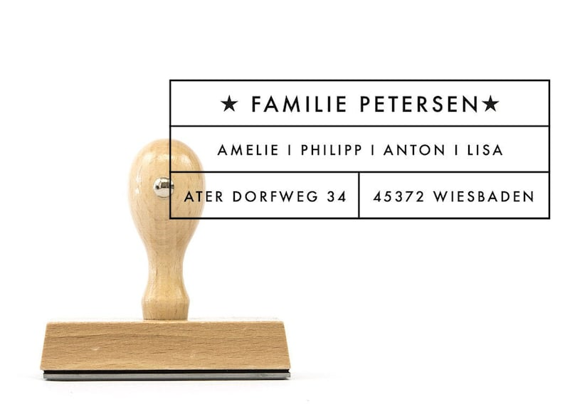 personalized Family stamp Wiesbaden 80 x 40 mm