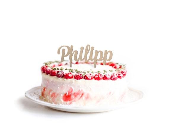 Cake Topper Schriftzug Zur Taufe Kommunion Firmung Oder Konfirmation Personalisiert