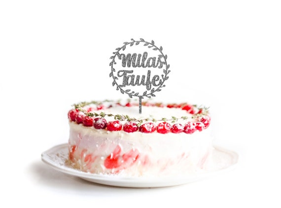 Kuchen Deko Taufe Personalisiert