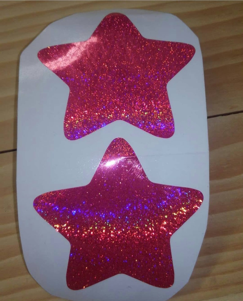 Glitter star pasties