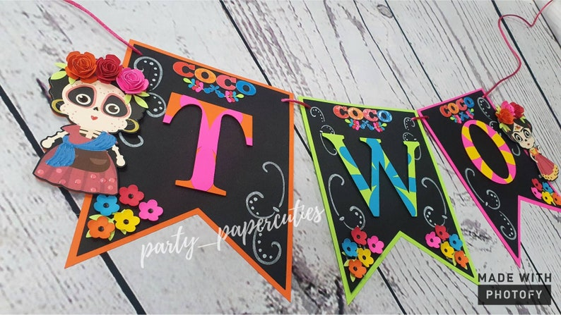 Coco Theme Two High Chair Banner Fiesta Mexicana Two High Chair Banner Coco smash high chair banner Mexican Party Banner