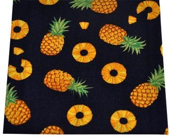 Trendiges Stofftaschentuch// Einstecktuch aus Baumwolle Design Ananas