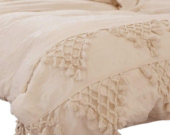 7c7396d9add5 Bohemian Tassels Duvet Cover Bedding Quilt Cover Gypsy Donna Cover Fringes  Comforter Cover Solid Duvet cover Boho washed cotton duvet cover