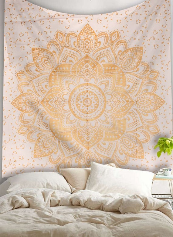 Black Ombre Indian King Wall Hanging Hippie Mandala Tapestry Boho Bedspread 108/""