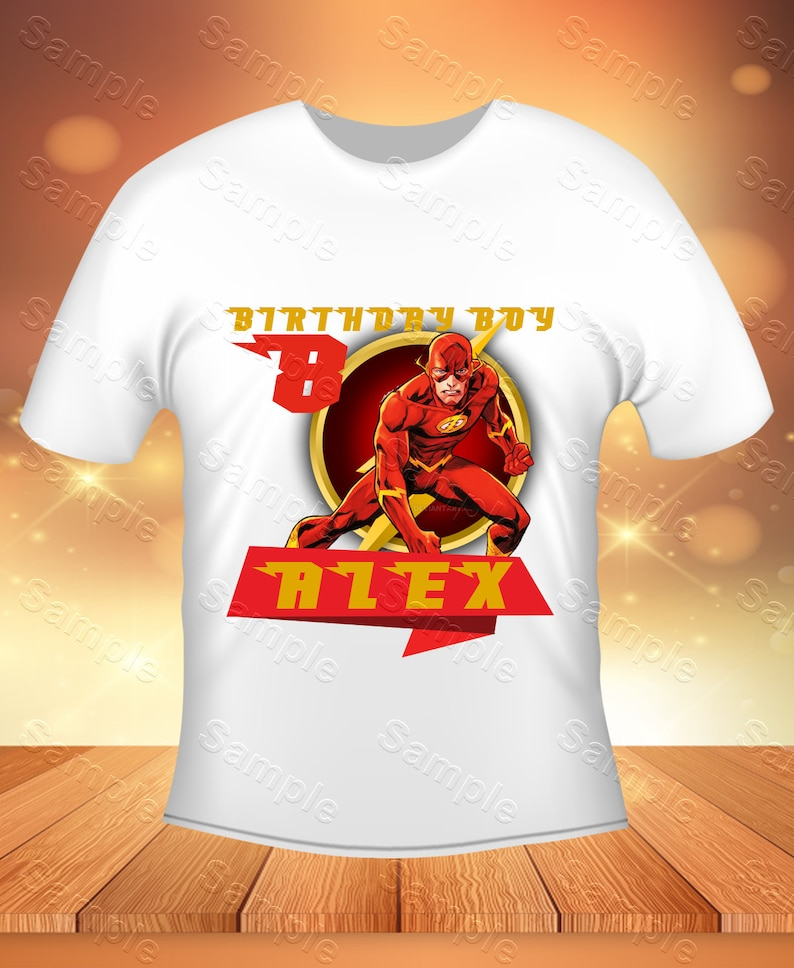 The Flash Iron On Transfer, The Flash Birthday Shirt DIY, The Flash Shirt  Designs, The Flash Printable, The Flash, Personalize, Digital File