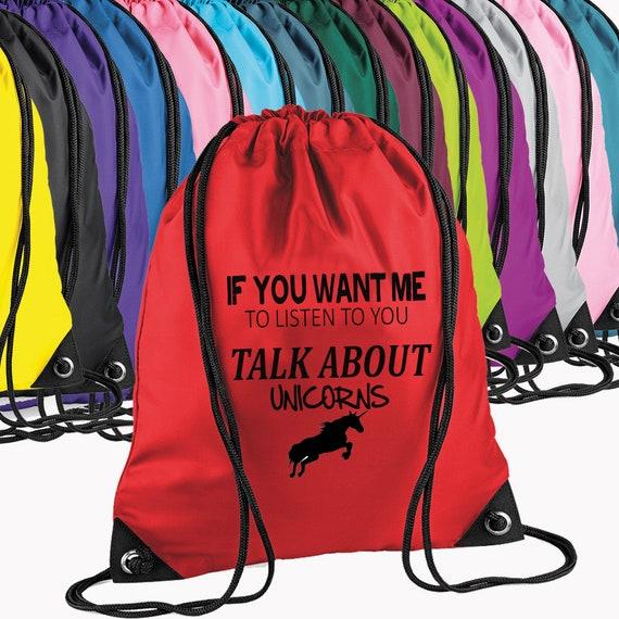 Si vous voulez Me vous écouter parler de LICORNES GymSac sac