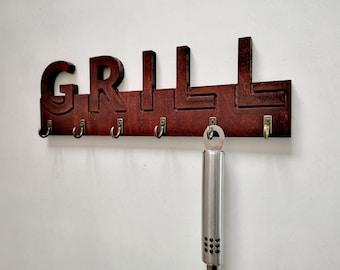 Merveilleux Grill Tool Holder, Grill Organizer, Back Yard Decor, Sign, BBQ Utensil  Holder, BBQ, Grill, Gift, Decor, Kitchen.