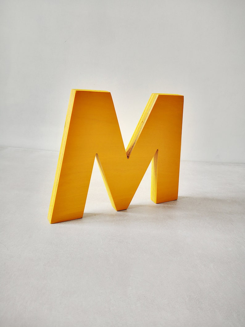 Wooden letter, Painted free standing wooden letter, Home decor letter,  Letter for event or party, Nursery wooden letter, Decor for home