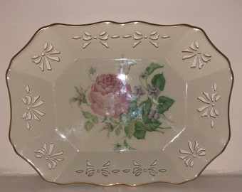 1997 Lenox Victorian Rose Candy Tray