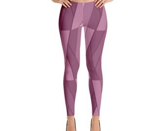 Purple Geometric Leggings