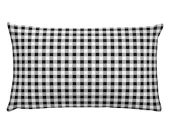 Gingham Rectangular Pillow