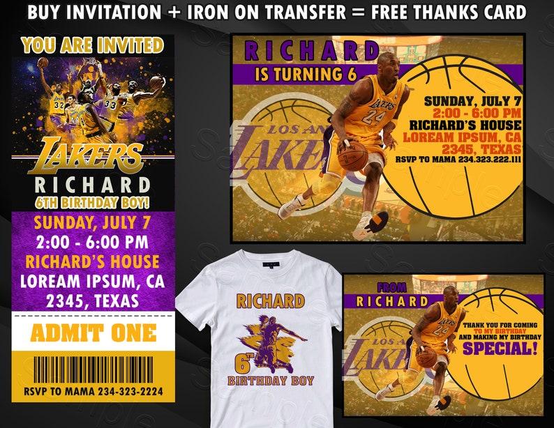 aa3f68933 Los Angeles Lakers Ticket Invitation Los Angeles Lakers Iron