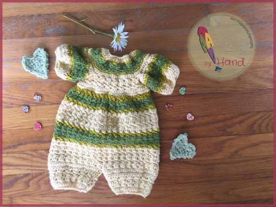 7ce03831a293 Crochet Baby Jumper Butternut and Olive