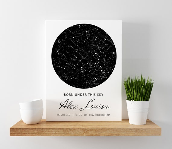 Star Map For Kids.Star Map Birth Custom Star Map Star Map Kids Personalized Etsy