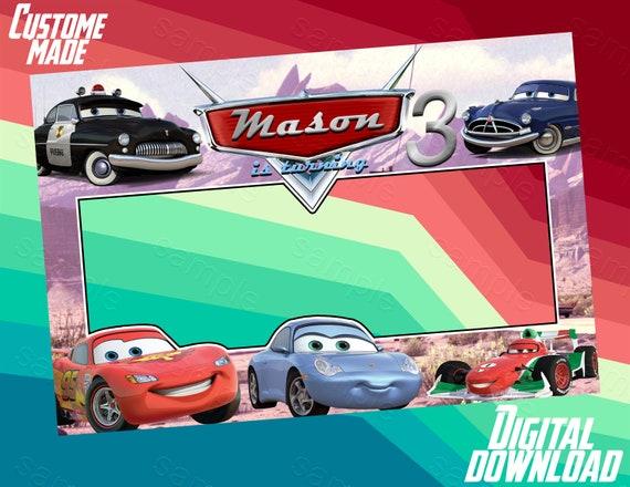 Cars Photo Booth Frame Cars Birthday Frame Cars Backdrop Etsy