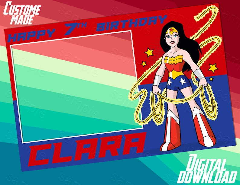 Wonder Woman Photo Booth Frame Wonder Woman Photo Booth Etsy