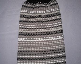 Double Towel, Crocheted Top Towel, Hanging Kitchen Towel