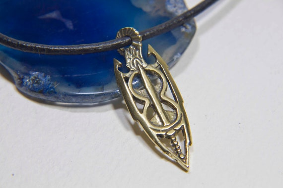 Brass Amulet of Akatosh / Skyrim Amulet / LARP/ Armor Jewelry / Gift for  Geek /Fantasy RPG / Leather cor Necklace