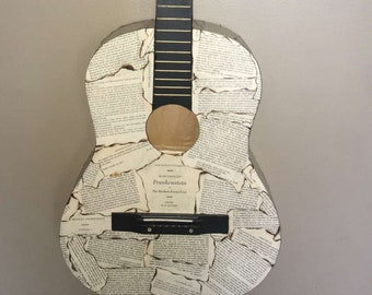 Mary Shelley Frankenstein modge podge guitar