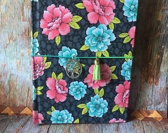 Fabric covered Traveler's Notebook hardback journal cover