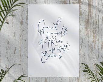 Ground Yourself A4 Yoga Print | Yoga Gifts | Mindfulness | Yogi Art | Wall Decor | Yoga Poses | Yoga Poster | Yogi Gifts | Gifts for Her