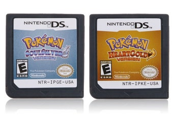 Pokemon DS HeartGold SoulSilver Cartridge US Version Reproduction Free Shipping