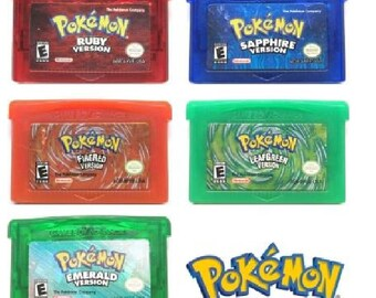 Pokemon Gameboy Game Cartridge for GBA US Version Reproduction Free Shipping