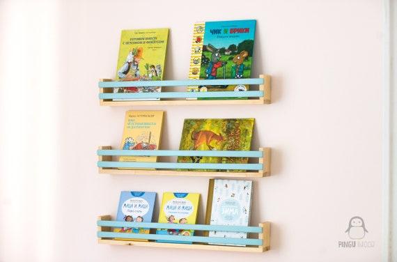 Kinder Buch Wandregal, Wandregal, schwimmende Regal, Kinder Buch Rack,  Kindergarten Bücherregal, Buch-Organizer