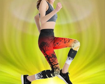 2c7d1c2d72077 Enchanted Forest Casual Leggings Nature Scenery 3D Fitness Printed Leggins  Ombre Print Leggings Slim Fitness Workout Leggings Pencil Pants